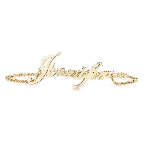 a61cd98db Amazon.com: Stan-Deed Custom Name Bracelet Personalized Women Bracelet  Customize Charm Initial Link Bracelet (Gold): Jewelry