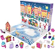 Polly Pocket Advent Calendar Featuring a Winter Wonderland Holiday Theme & 25 Surprises to Discover: Micro