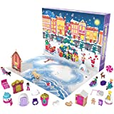 Polly Pocket Advent Calendar Featuring a Winter Wonderland Holiday Theme & 25 Surprises to Discover: Micro Dolls, Dwellings, Animals, Vehicles & More; for Ages 4 Years Old & Up