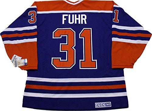Grant Fuhr Edmonton Oilers CCM vintage jersey Reebok/CCM