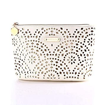c7aa369f6d3 Makeup Bag, Wuhua Gold Pattern Cosmetic Bag with Zipper, Toiletry/Travel  Bag for Brushes Jewelry...