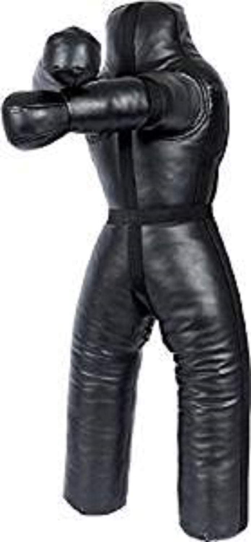 Bestzo MMA Jiu Jitsu Judo Punching Bag Grappling Dummy Black Sitting Position Hands on Front-Unfilled