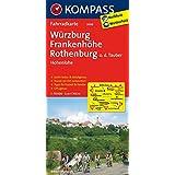 Würzburg - Frankenhöhe - Rothenburg o. d. Tauber - Hohenlohe: Fahrradkarte. GPS-genau. 1:70000 (KOMPASS-Fahrradkarten Deutschland, Band 3098)