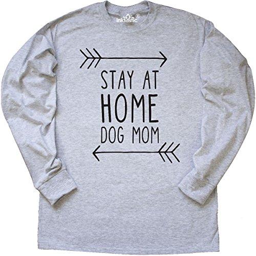 Mom Ash Grey T-shirt (Inktastic - Stay At Home Dog Mom Long Sleeve T-Shirt Medium Ash Grey)