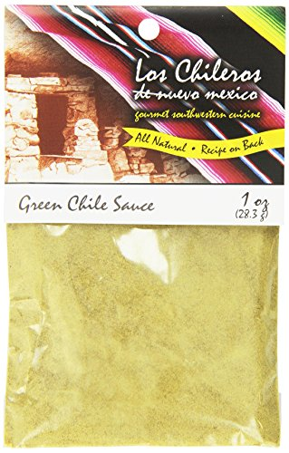 Los Chileros Green Chile Sauce, 1 Ounce (Pack of 12) ()