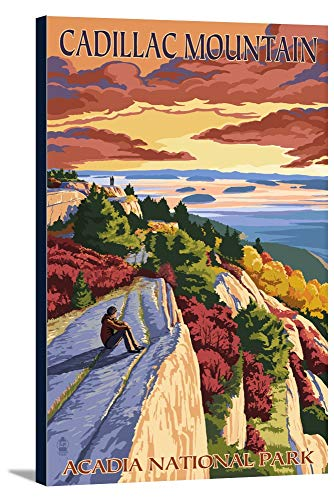 (Acadia National Park, Maine - Cadillac Mountain (24x36 Gallery Wrapped Stretched Canvas))