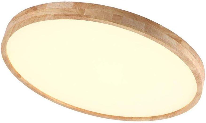 Regulable LED Lámpara de techo, madera moderno plafón, Mesas redondo Diseño Techo de iluminación, creativos de luces para salón dormitorio, 36 W Con Mando A Distancia, 2700 Lúmenes, diámetro 55 cm