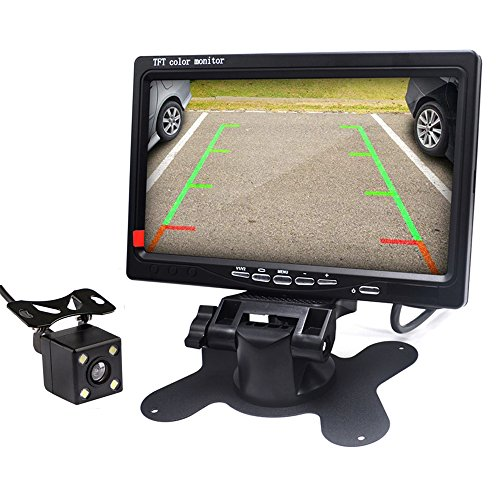 Padarsey LED Backup Camera and Monitor,Car Rear View Camera Waterproof High Definition 170 Degree Viewing Angle,Universal Mount (Front view/Rear view)+7'' Monitor for Bus/Truck Van/Trailer/RV/Campers by Padarsey