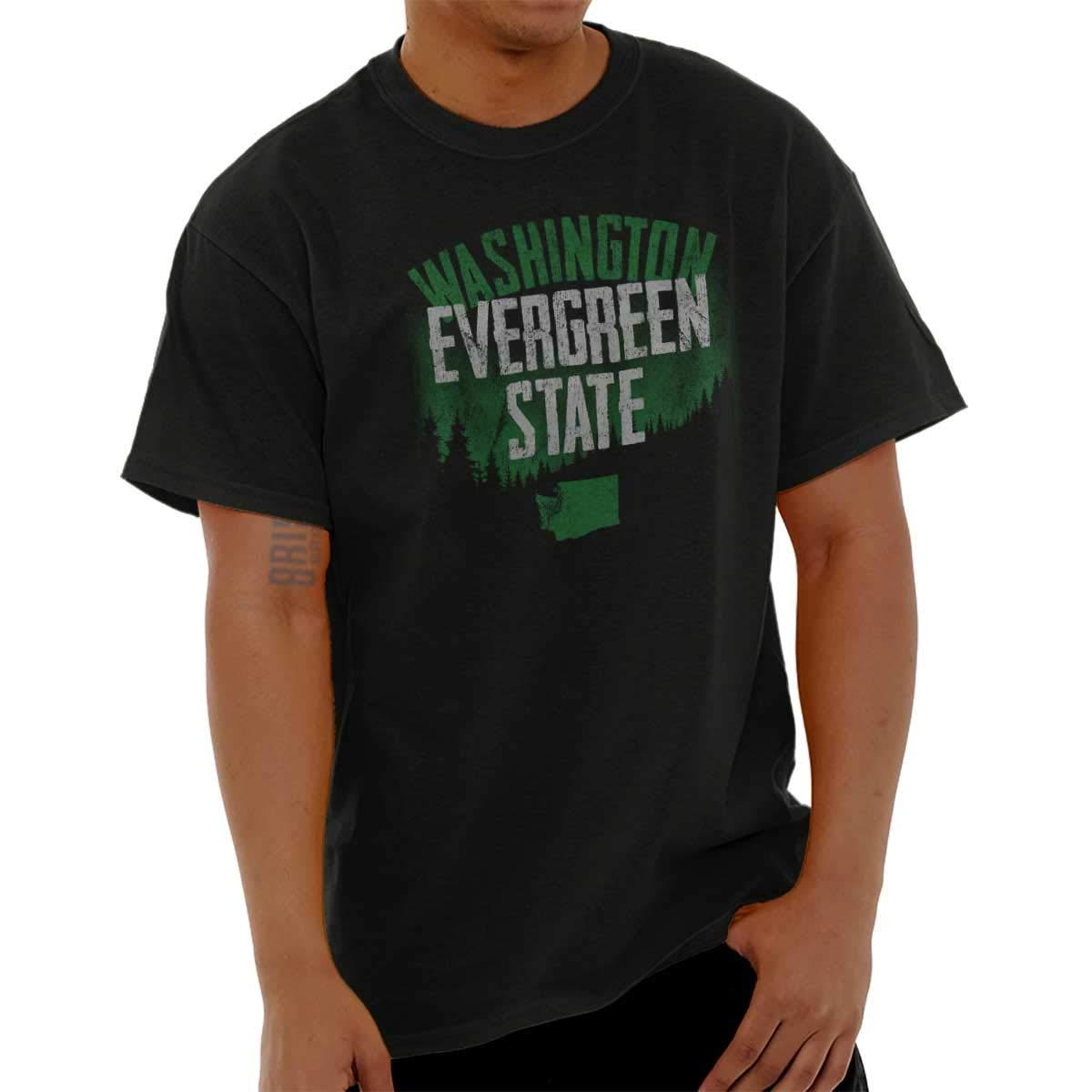 Washington Evergreen Pacific Northwest Gift T Shirt Tee 1472