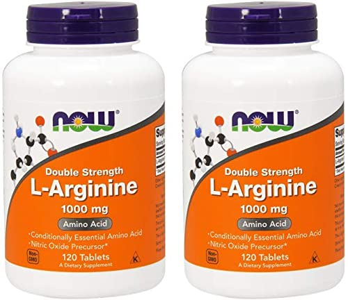 Now Foods L-Arginine 1000mg, 120 Tablets 2 Pack