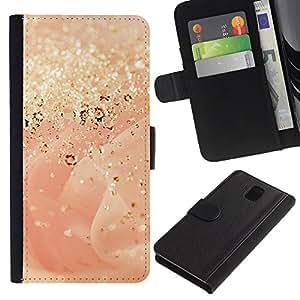 WINCASE Cuadro Funda Voltear Cuero Ranura Tarjetas TPU Carcasas Protectora Cover Case Para Samsung Galaxy Note 3 III - hojas de otoño de los bosques que se doren