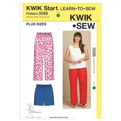 KWIK-SEW PATTERNS Kwik Sew K3588 Sleep Pants and Shorts Sewing Pattern, Size 1X-2X-3X-4X by KWIK-SEW PATTERNS