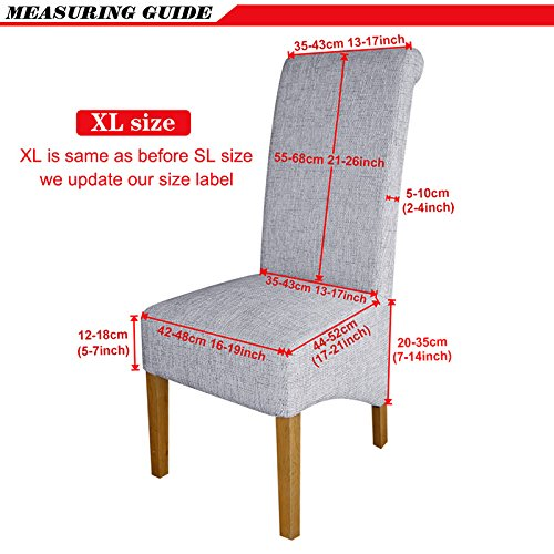 XL Size Long Back Chair Cover Europe Style Seat Chair Covers Universal Restaurant Hotel Party Banquet Slipcovers Home Decoration 90 XL sizes