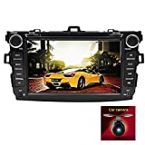 8 Inch 800 HD Touch Screen Car DVD Player GPS Stereo for Toyota Corolla 2009-2010 In Dash Navigation iPhone Music/AM FM Radio/SWC/Bluetooth/DVR/AV-IN/1080P-Video