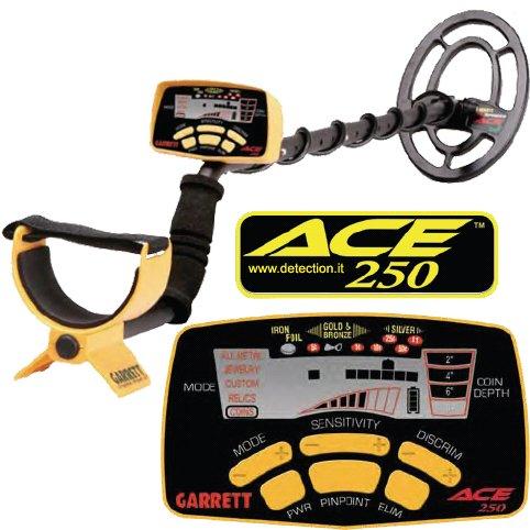 Detector de metales Garrett Ace 250 + Accesorios Auriculares y Copri Bobina cercametalli: Amazon.es: Jardín