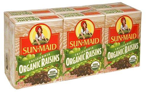 Sun Maid California Organic Raisins, 1.5-Ounce box (Pack of 36)