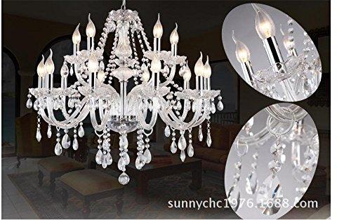MEIREN@ Candela d\'argento a cristallo moderno lampadario per ...