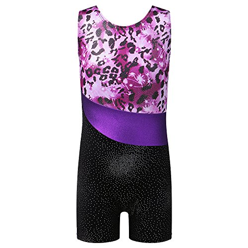 BAOHULU Toddlers Girls Gymnastics Dance Leotards-One-piece Sparkle Stripes & Stiching Athletic Clothes...