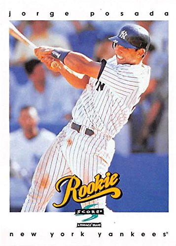 Jorge Posada baseball card (New York Yankees) 1997 Score #481 Rookie
