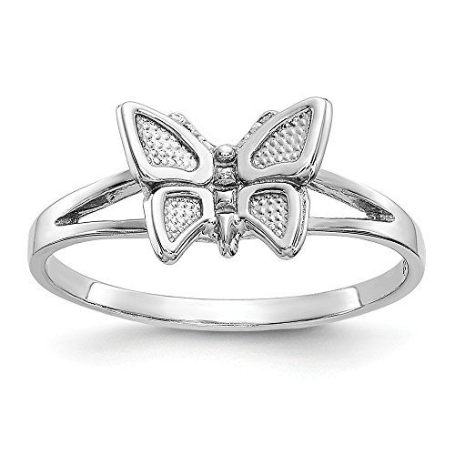 (10K White Gold Butterfly Ring)
