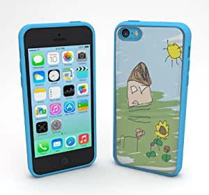 Devicewear Sketchy: Design Your Own Case for iPhone 5C with 5 Inserts - Retail Packaging - Blue