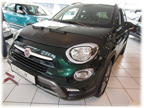 HOOD BRA Front End Nose Mask for Fiat 500X since 2014 Bonnet Bra STONEGUARD PROTECTOR TUNING