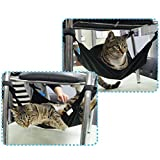 Wildgirl Pet Cat Hammock Bed Hanging Soft Small Beds for Chairs (Black)