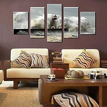 Fy Art Décor Moderne 5 Pièces Giclée Sur Toile Printingwall Art