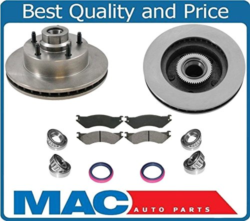 (1998-2002 Dodge Ram Van 1500 Brake Front Rotors & Pads Wheel Bearings & Seals)
