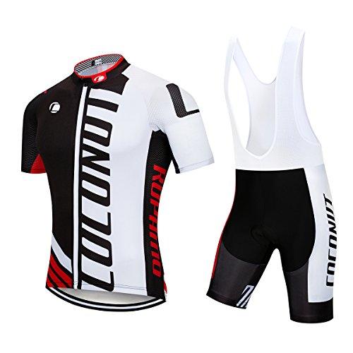 Men s Cycling Jersey Short Sleeve Full Zip Bike Clothing Set 360293837