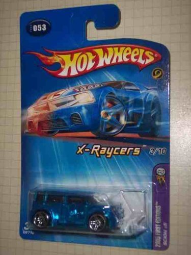 Blue SCION xB Hot Wheels 2005 First Editions 1:64 Scale X-Raycers Clear Red Scion XB 1:64 Scale Collectible Die Cast Car Model #53