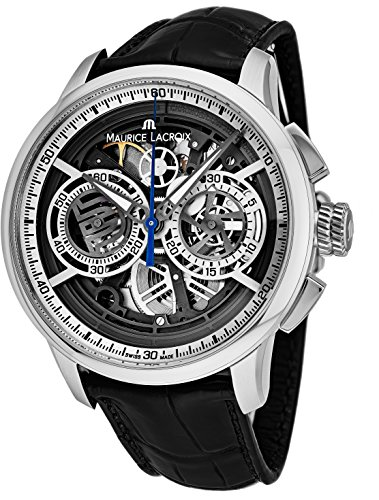 Maurice Lacroix Masterpiece Skeleton Automatic Watch, Chronograph, ML206, Silver