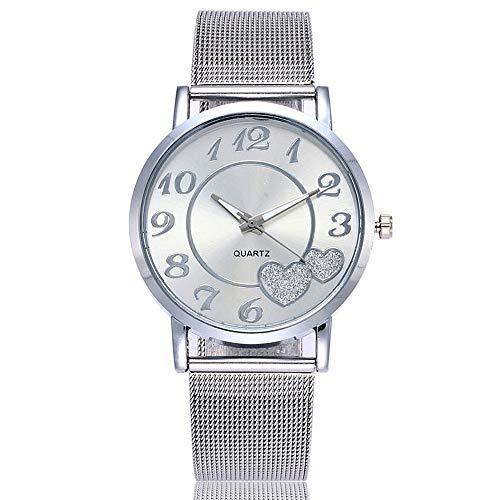 HunYUN Luxury Business Classic Women Quartz Stainless Steel Band Strap Watch Analog Wrist Watch