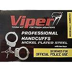 Viper-Tactical-Manette-Polizia-robuste-Professionali-con-2-Chiavi-e-Numero-seriale-in-Acciaio-Rivestito-in-Nickel