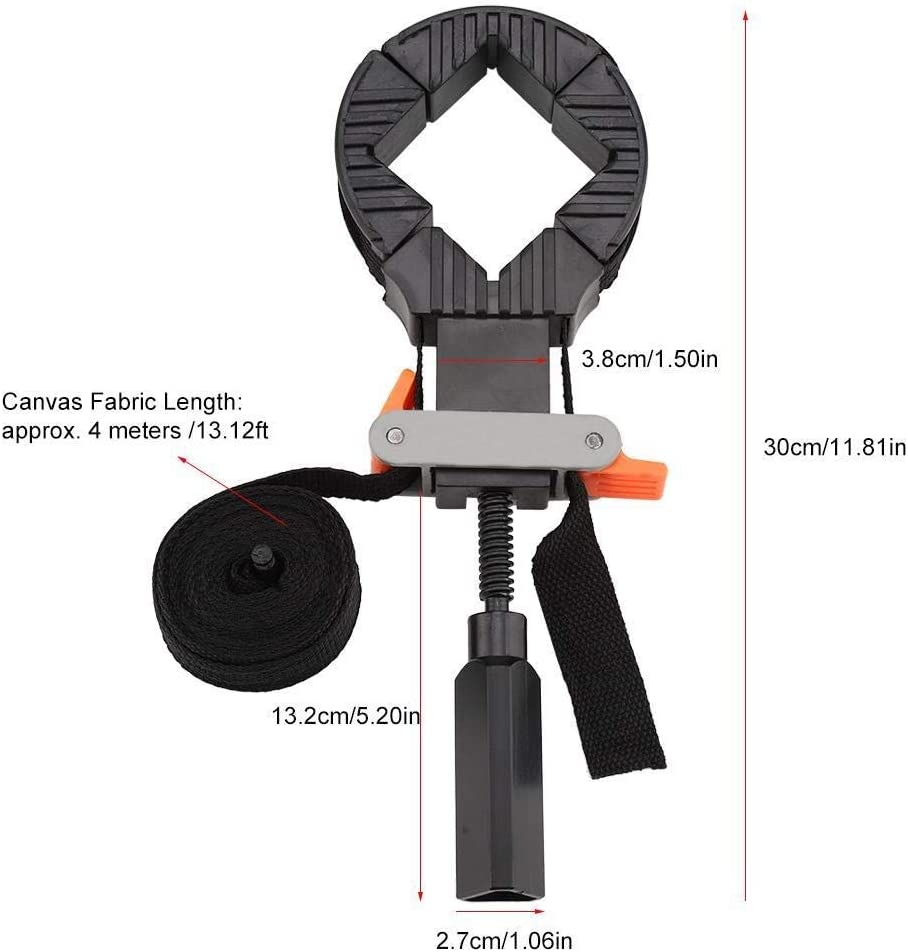 Maxmartt Corner Clamps,1 PC Of Fast Adjustable Band Strap 4 Jaws Corner Clamp For Picture Frame Woodworking Hand Tool