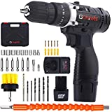 Cordless Drill with 2 Batteries - GOXAWEE...