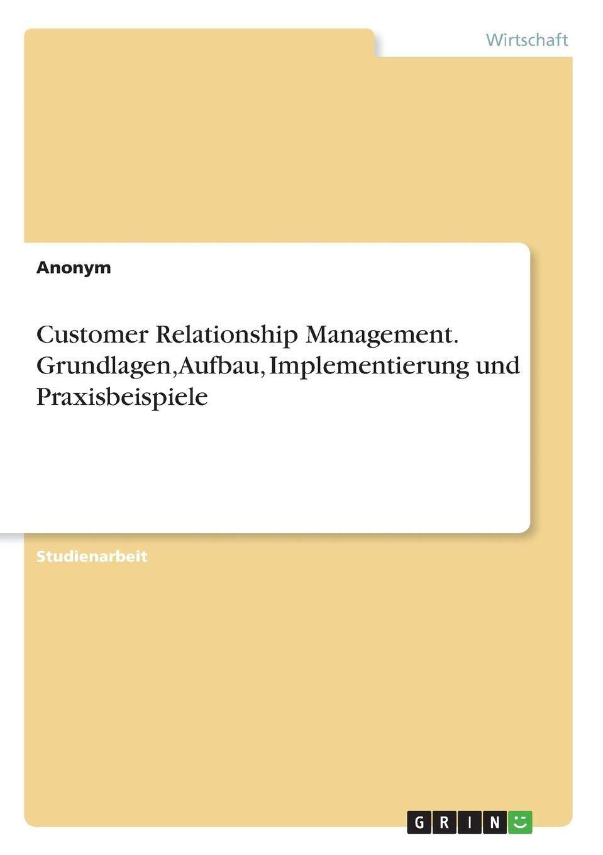Customer Relationship Management. Grundlagen, Aufbau, Implementierung und Praxisbeispiele (German Edition) pdf