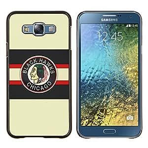 YiPhone /// Prima de resorte delgada de la cubierta del caso de Shell Armor - Chicago Blackhawk Hockey sobre hielo - Samsung Galaxy E7 E700