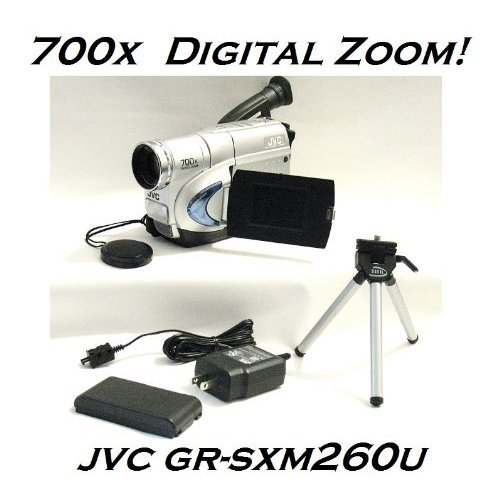 JVC GR-SXM260U Compact S-VHS Camcorder with 700x Digital Zoom w/ Accessories - Digital Time Base Corrector