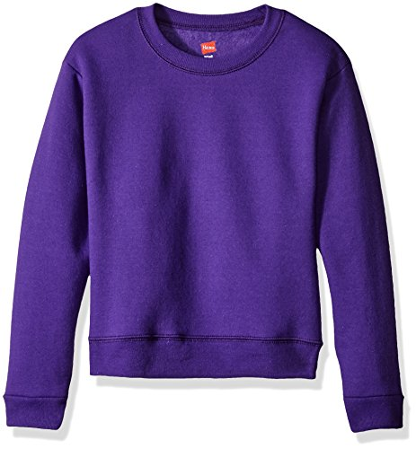 Hanes Girls' Big Girls' Comfortsoft Ecosmart Fleece Sweatshirt, Purple Thora, XL]()