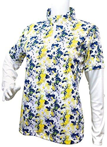 足首次へエンコミウムトロピカルフルーツ柄 長袖レイヤードジップハイネックシャツ 2018年春夏モデル