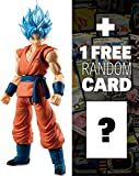 Super Saiyan God SS Son Goku: ~3.2″ Dragonball Super x Shodo Micro Action Figure + 1 FREE Official DragonBall Trading Card Bundle