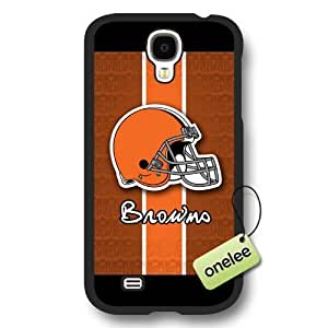 Personalize NFL Cleveland Browns Logo Frosted Black For Case Samsung Galaxy Note 2 N7100 Cover - Black