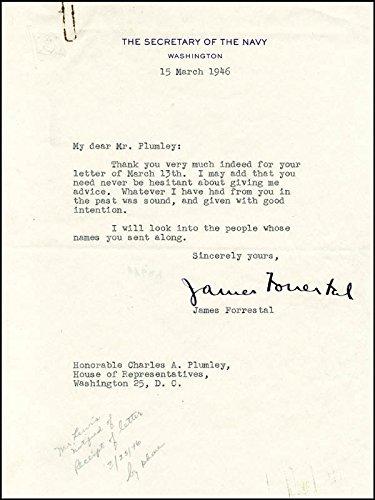 James Forrestal Typed Letter Signed 03/15/1946
