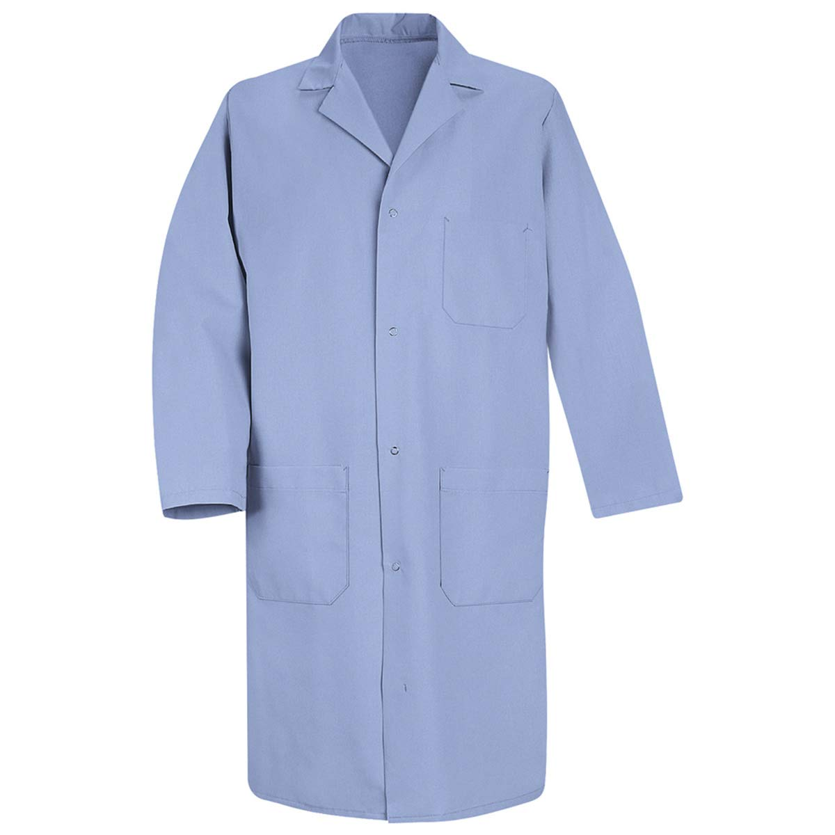 Red Kap Medium/Regular Light Blue 5 Ounce Polyester/Cotton Lab Coat With Gripper Closure