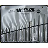 Wilde Tool K12.NP/VR Punch and Chisel Set with Vinyl Roll, 12-Piece, Natural Finish