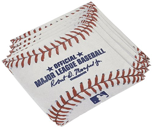 Amscan Baseball Dream Rawlings Baseball Party Beverage Napkin, 16 Pieces, Made from Paper -