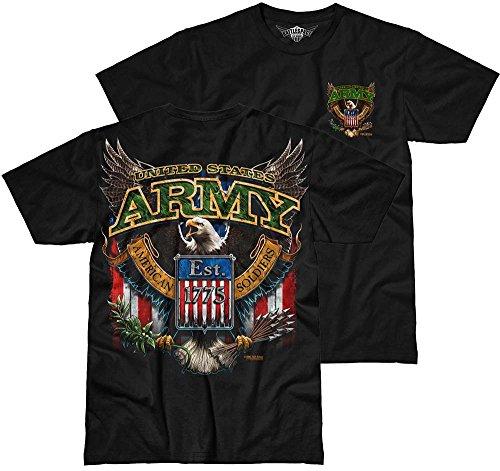 Design Eagle Hommes Fighting T shirt Noir Army 62 Battlespace 7 pBXwqx5EE