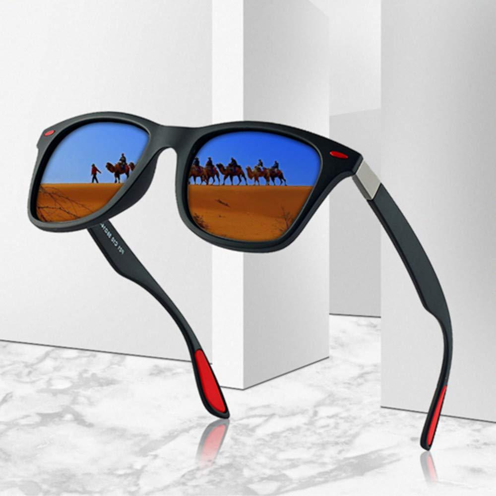 Rgargga Lunettes de soleil polarisées pour hommes et femmes   Lunettes de soleil au fini mat   Lentille de miroir de couleur   Blocage 100% UV
