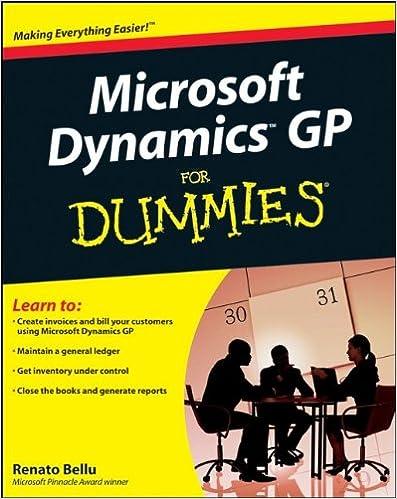 Microsoft dynamics gp for dummies renato bellu 9780470388358 microsoft dynamics gp for dummies 1st edition fandeluxe Image collections